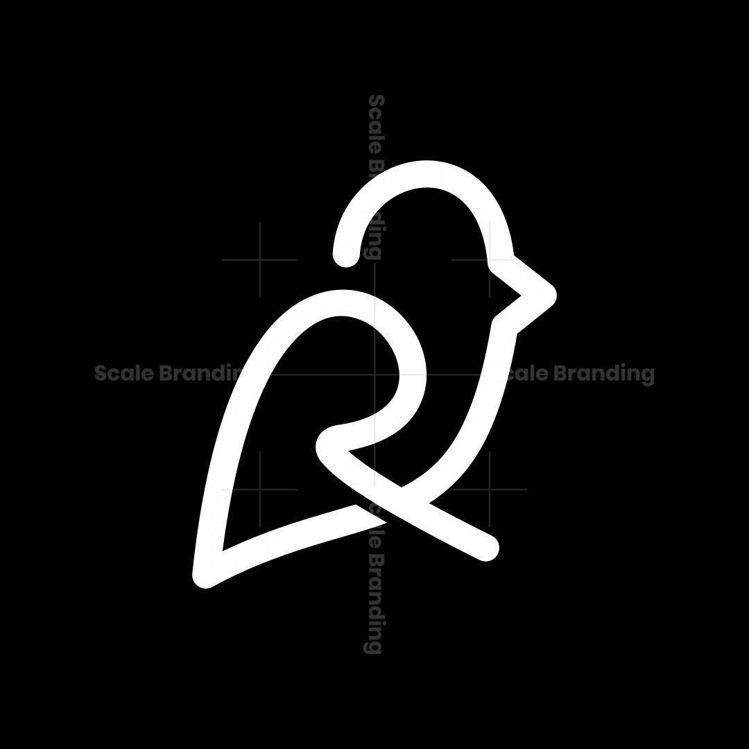 Letter R Bird Logo