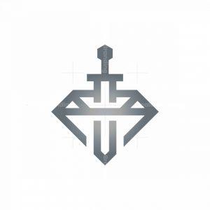 Diamond Luxury Sword Logo