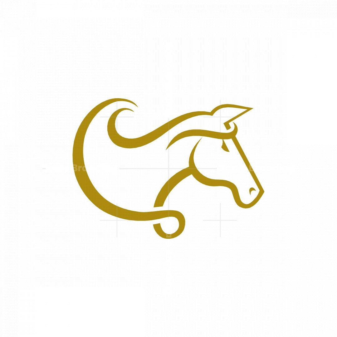 Minimal Elegant Horse Logo