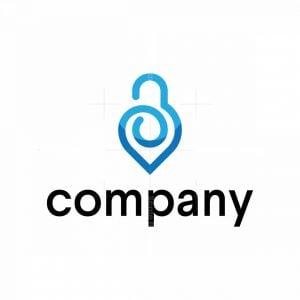 Pin Lock Logo