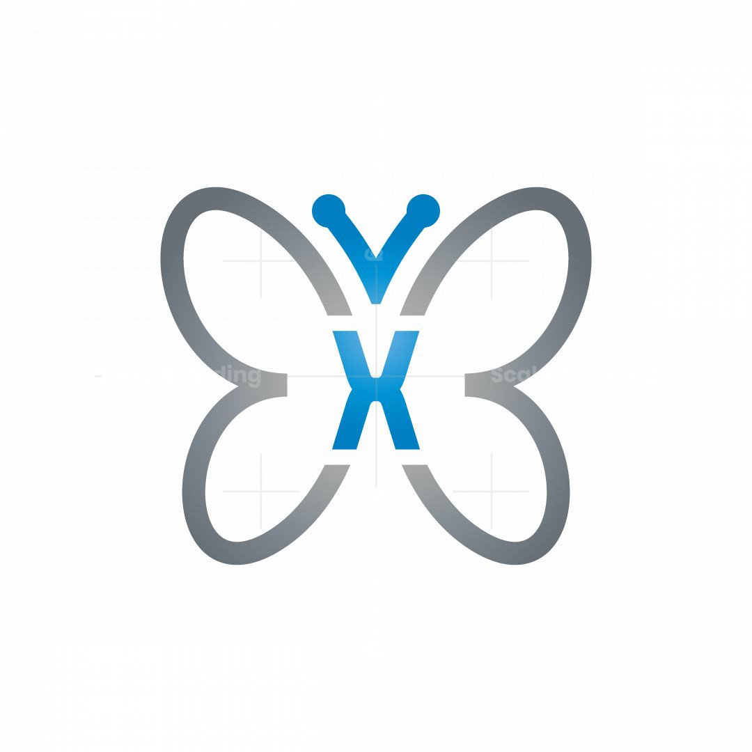 Letter X Butterfly Logo