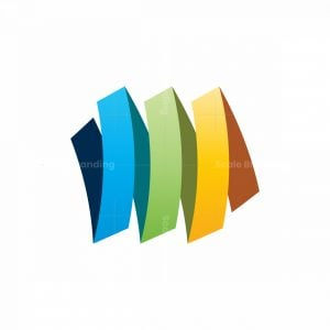 Abstract Color Line Logo