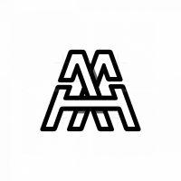 Cool Aa Or Aah Or Mh Monogram Logo