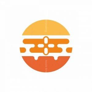 Airplane Sunset Logo