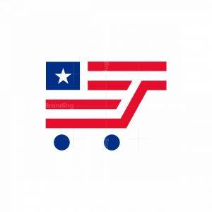 American Flag Cart Logo