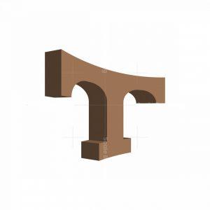 Arch T Letter Logo