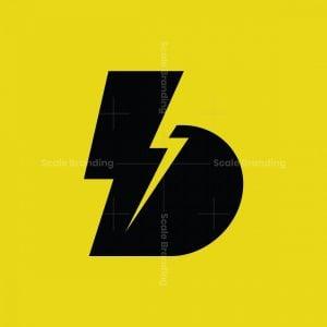B Thunder Bolt Monogram Logo