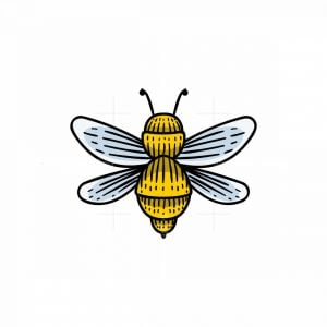 Bee Hand Drawn Logo