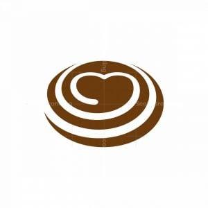 Coffee Love Cream Swirl Logo