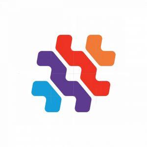Colorful Tech Hash Logo