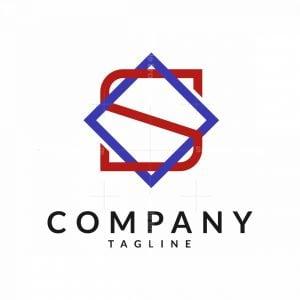 Cool Letter S Hexagram Logo