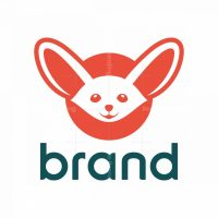 Cute Fennec Fox Logo