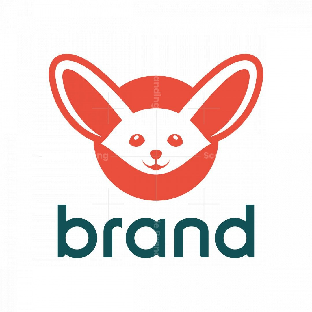 Cute Fennec Fox Logo