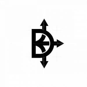 Letter D Arrows Logo
