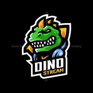 Dino Stream Mascot Logo