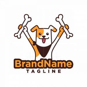 Happy Dog Bone Logo