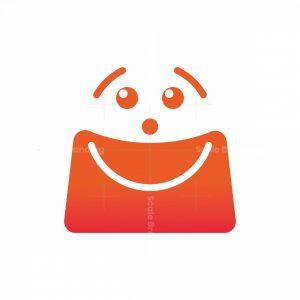 Happy Shopping Smile Bag Logo