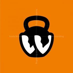 Kettlebell Letter W Logo