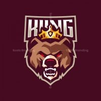 King Bear Mascot Logo