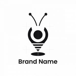 Insect Map Pin Logo