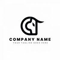 Letter C Bull Logo