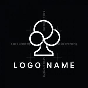 Minimalist Cloud Tree Logo