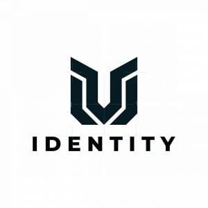 Modern M Or V Or Vm Mv Logo