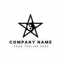 Yin Yang Star Logo