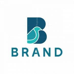 Letter B Bird Logo