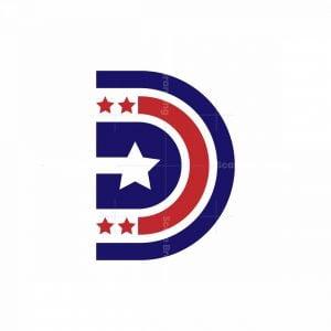 Letter D Star Logo