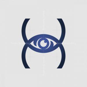 Letter H Eye Logo