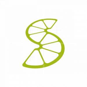Lime S Letter Logo