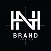 Monogram Hn Or Nh Logo
