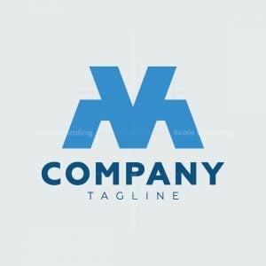Monogram Vm Mv Logo