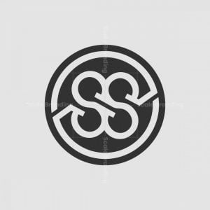 Ss Up And Down On Circle Monogram Logo
