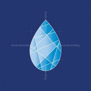 Crystal Waterdrop Logo