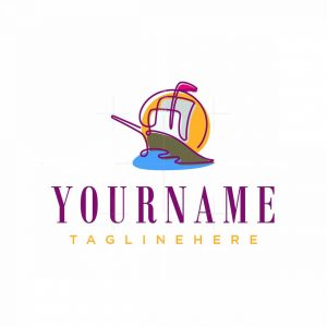 Simple Sailboat Logo