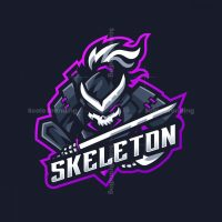 Skeleton Mascot Logo