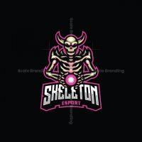 Skeleton Esport Mascot Logo