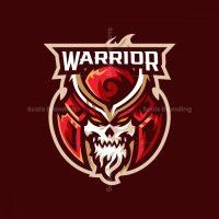 Skull Warrior Mascot Logo
