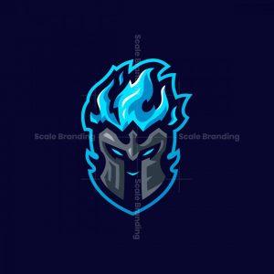 Spartan Fire Mascot Logo