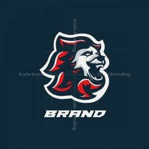 Wild Lion Sports Mascot Logo