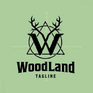 Wood Land Letter W Logo