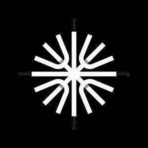 Abstract Circle Lines Logo