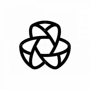 Abstract Hexagon Ellipse Logo