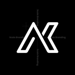 Cool Ak Or Nk Letter Initial Monogram Logo