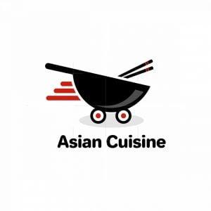 Wok Food Delivery Logo