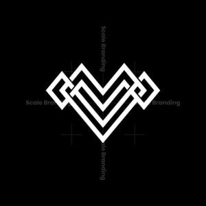Cool Mv Knot Letter Initial Monogram Logo
