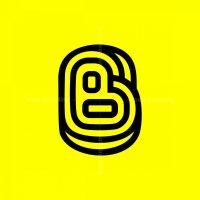 Cool Trendy Letter B Initial Monogram Logo
