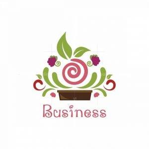Balcony Garden Plants And Seeds Symbol Logo